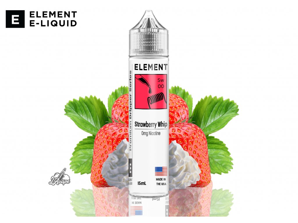 Element Strawbery Whip SNV - Zralé jahody s krémovou vanilkou. Svůdné jahody a smetana vytvářejí společně neodolatelnou chuť! - lavape.cz