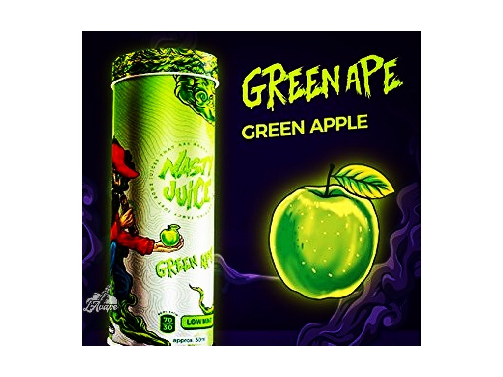 Nasty Juice Green Ape SnV 20ml v 60 ml lahvičce.