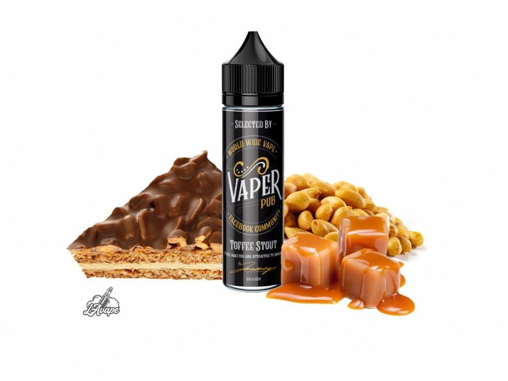 Příchuť 6 ml v 60 ml lahvičce - AEON Vaper Pub Toffe Stout. Karamelový dezert. lavape.cz