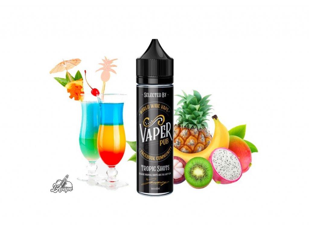 Příchuť 6 ml v 60 ml lahvičce -AEON Vaper Pub Tropic Shots. Tropická ovocná směs. lavape.cz