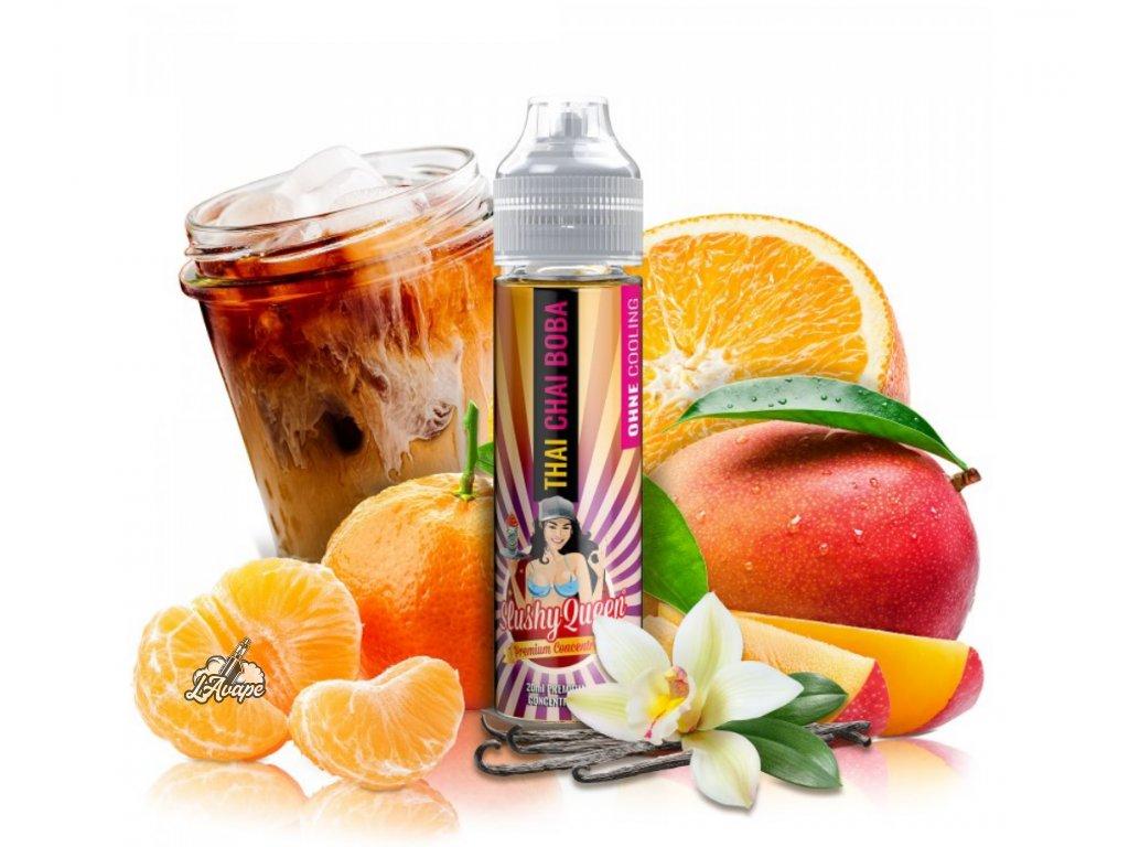 PJ EMPIRE SLUSHY QUEEN NO ICE THAI CHAI BOBA ON THE ROXX SnV 20 ml v 60 ml lahvičce - LAVAPE.CZ