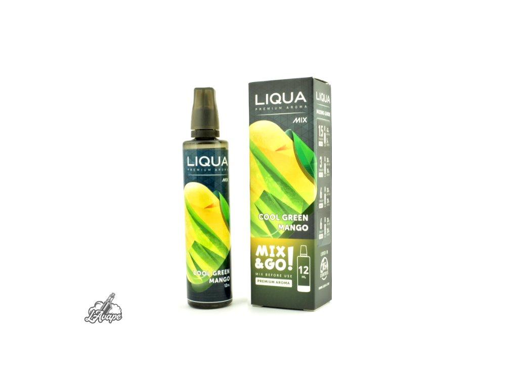 Příchuť SNV 12 ml v 70ml lahvičce - LIQUA MIX&GO COOL GREEN MANGO. lavape.cz