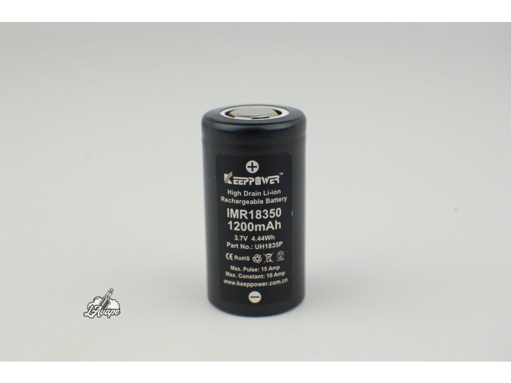 Baterie Keeppower IMR 18350 - 1200mAh - 10A - lavape.cz