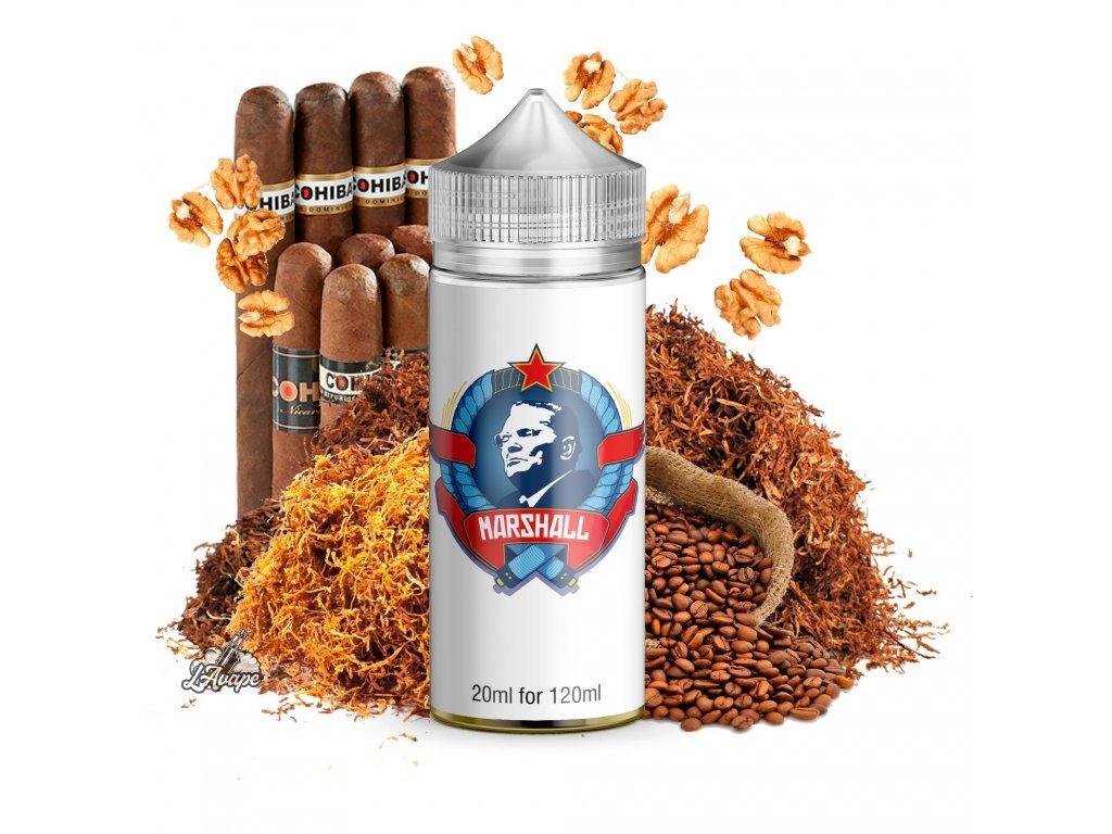 Infamous Special Marshall - Velmi kvalitní tabáková příchuť podobná populárním kubánským doutníkům, to je Marshall. Navíc s přidanou příchutí jemných oříšků a kávy. Chuťová extravagance v SNV balení pro Vás. - lavape.cz