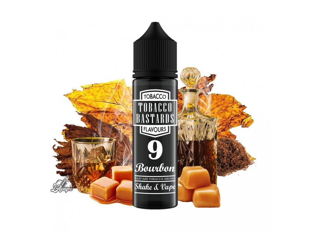 Flavormonks Tobacco Bastard No. 9 Bourbon - Lehká tabáková chuť s krémovým bourbonem, whiskey a karamelem. - lavape.cz