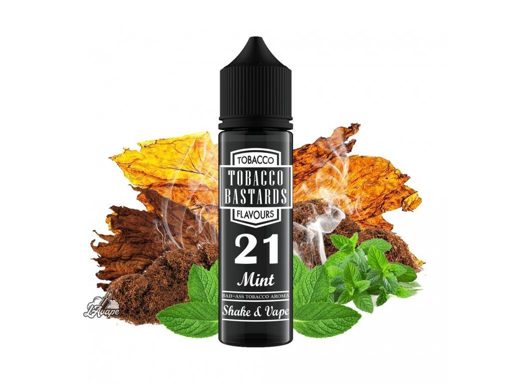 Flavormonks Tobacco Bastard No. 21 Mint - Čistá tabáková příchuť s přirozenou chutí máty. - lavape.cz