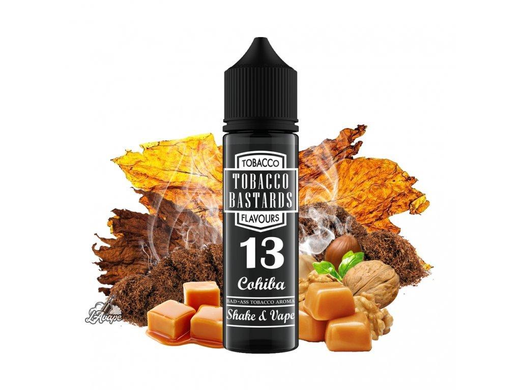 Flavormonks Tobacco Bastard No. 13 Cohiba - Lehká tabáková příchuť s jemným ořechovým nádechem a lehce kouřovým tabákem s opečeným karamelem a krémovým bourbonem. - lavape.cz