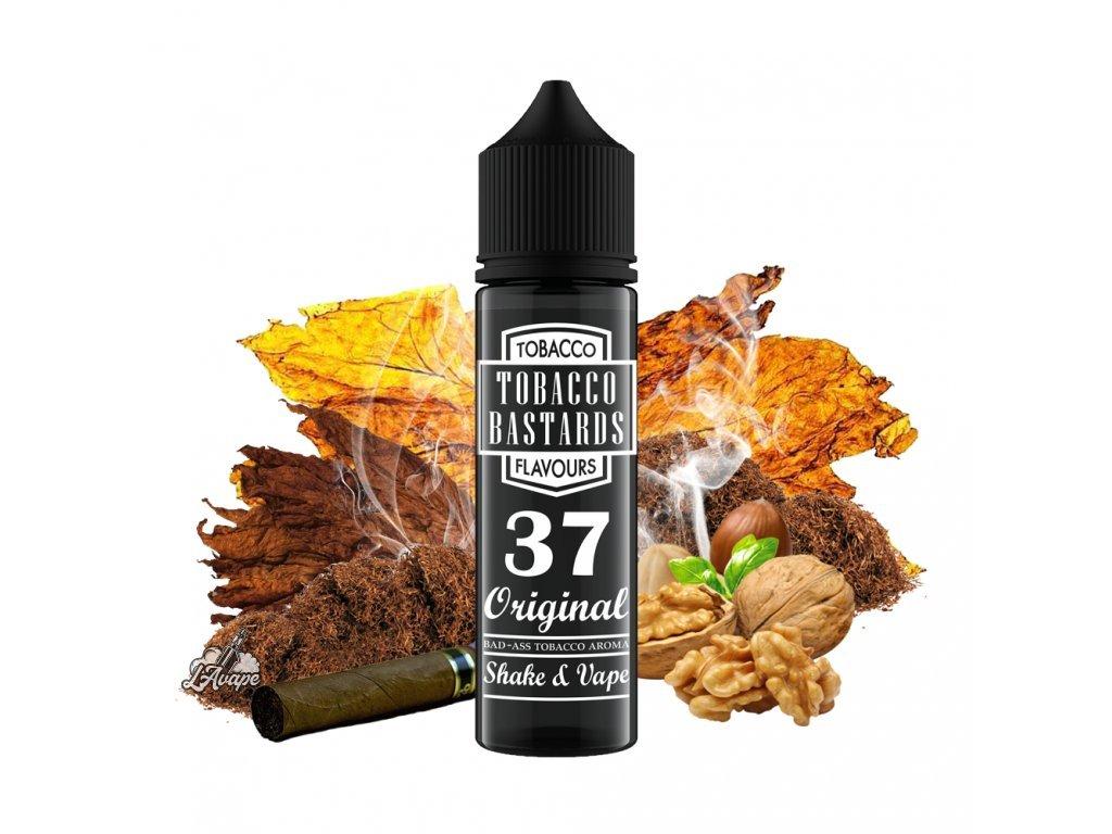 Flavormonks Tobacco Bastard No. 37 Original - Klasická příchuť tabákových listů s mírným dozvukem opečených ořechů. - lavape.cz