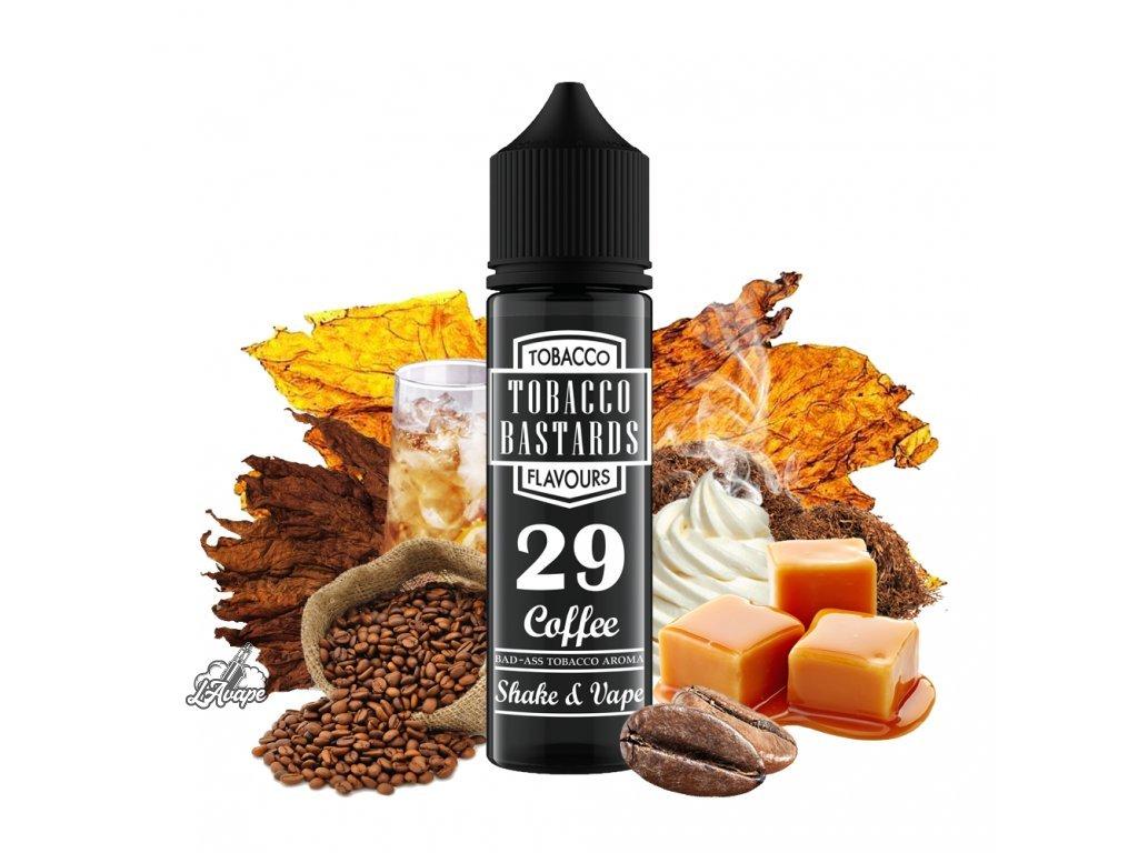 Flavormonks Tobacco Bastard No. 29 Coffee - No.29 je nasládlá tmavá pražená káva se smetanou, karamelem, kapkou whiskey a jemným tabákem. Unikátní liquid! - lavape.cz