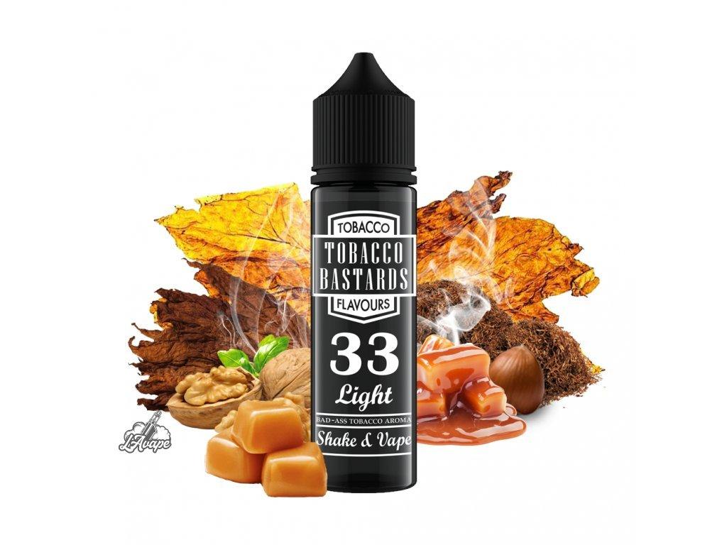 Flavormonks Tobacco Bastard No. 33 Light - Klasická lehká tabáková příchuť s ořechy a opečeným karamelem. - lavape.cz