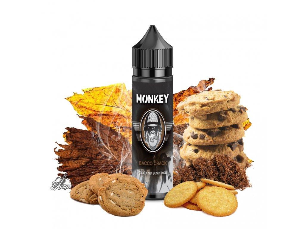 Monkey Liquid Bacco Crack - netradiční kombinace tabákového aroma a intezivní sladké sušenky. Návyková kombinace, kterou musíte vyzkoušet. - lavape.cz