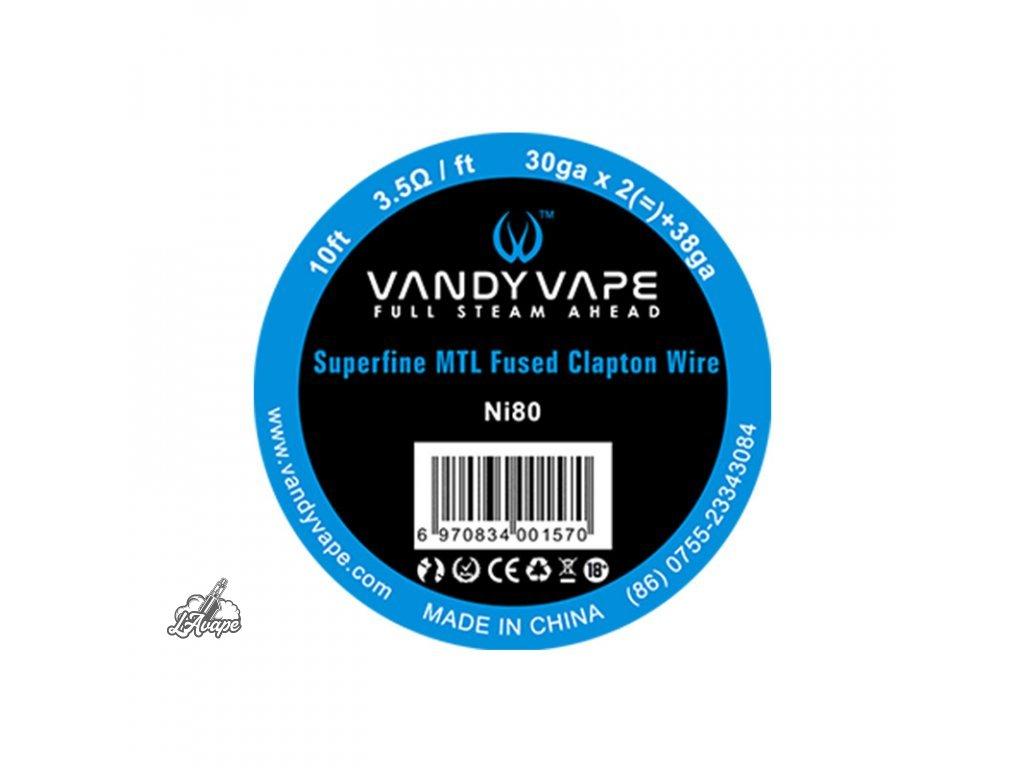 Ni80 Superfine MTL Fused Clapton 3,04 m Vandy Vape - lavape.cz