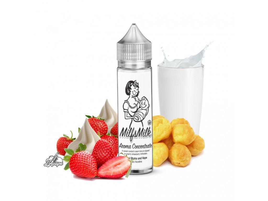 Milkshakes Milfsmilk V2 20 ml - sladká buchta se šlehačkou a čerstvou jahodou v mléčném krému - lavape.cz