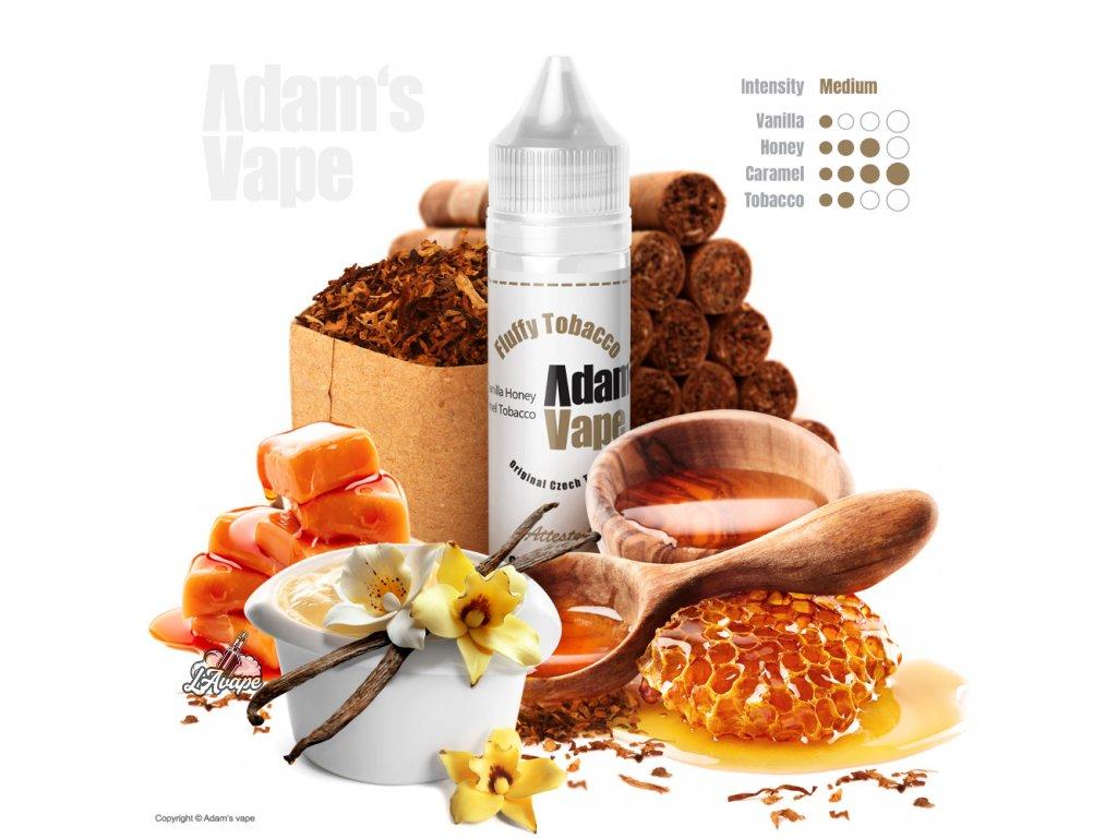 Příchuť SNV 12 ml v 60ml lahvičce - Adam´s Vape Fluffy Tobacco - med, vanilka, karamel, tabák. lavape.cz