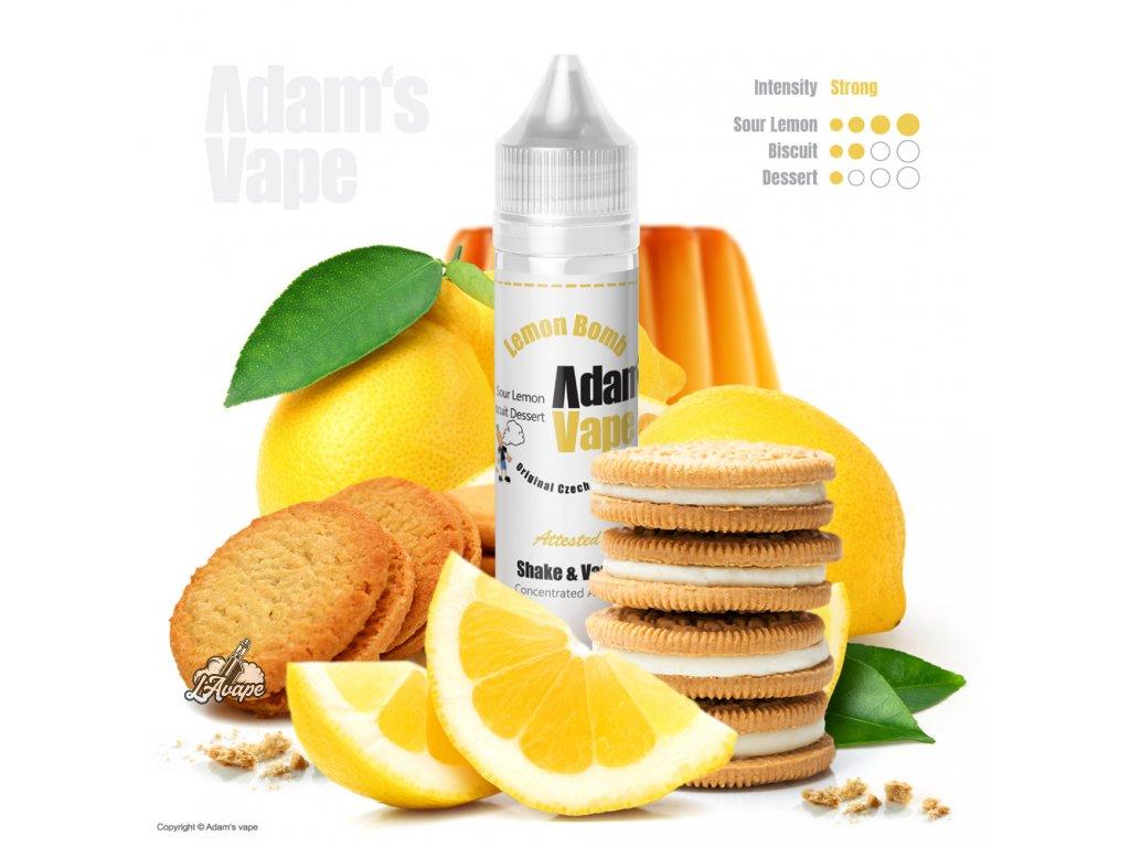Adams Vape Lemon Bomb - sušenka, dva citróny a krém - LAVAPE.CZ