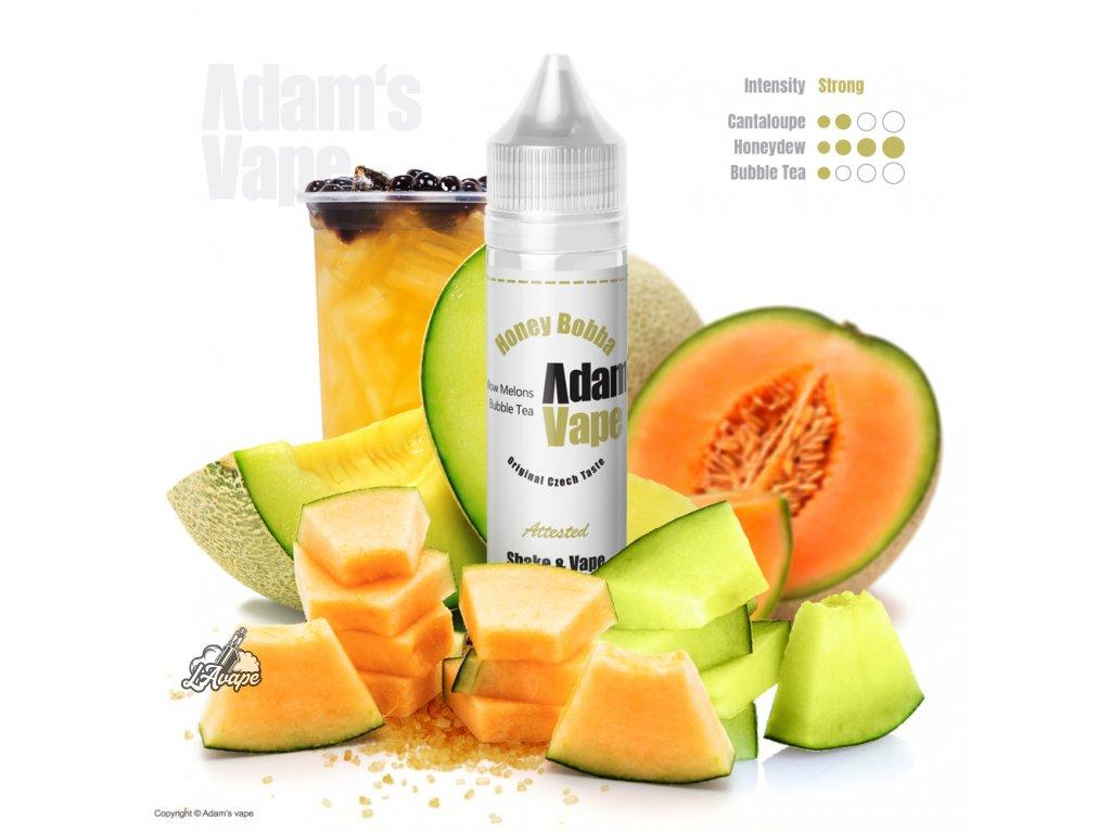 Adams Vape Honey Bobba - bublinkový čaj s dvěma žlutými melouny - LAVAPE.CZ