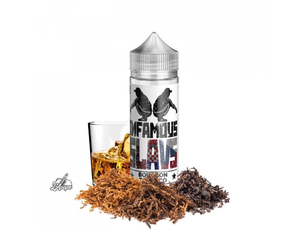 Infamous Slavs Bourbon Tobacco - Silný delikátní tabák v kombinaci s exkluzivní bourbon whiskey. Toto souznění chutí by neměl vynechat žádný milovník tabáků a bourbonů. - lavape.cz