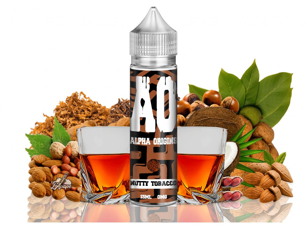 Alpha Origins Nutty Tobacco - luxusní tabáková příchuť s oříšky - lavape.cz