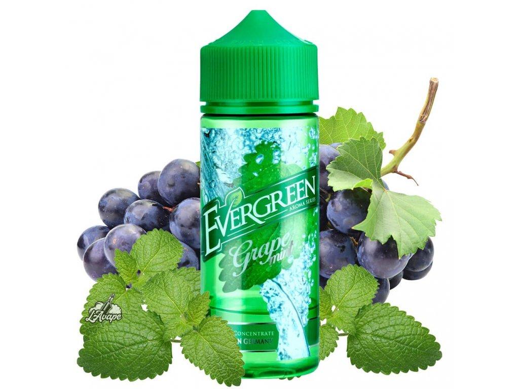 Evergreen Grape Mint SnV 30 ml aroma ve 120 ml Chubby gorila lahvičce - hrozny, máta. lavape.cz