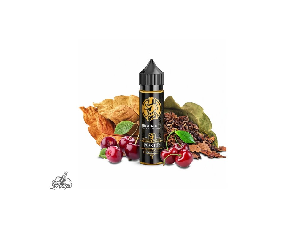 PJ EMPIRE HIGH RIDER Poker SnV 20 ml v 60 ml lahvičce - tabák, třešně - LAVAPE.CZ