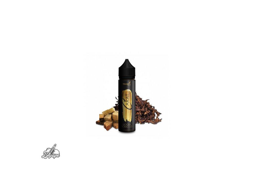 Omerta Carat Woody Tobacco SnV 20 ml v 60 ml lahvičce. Silný tabák, kouř, bourbon.