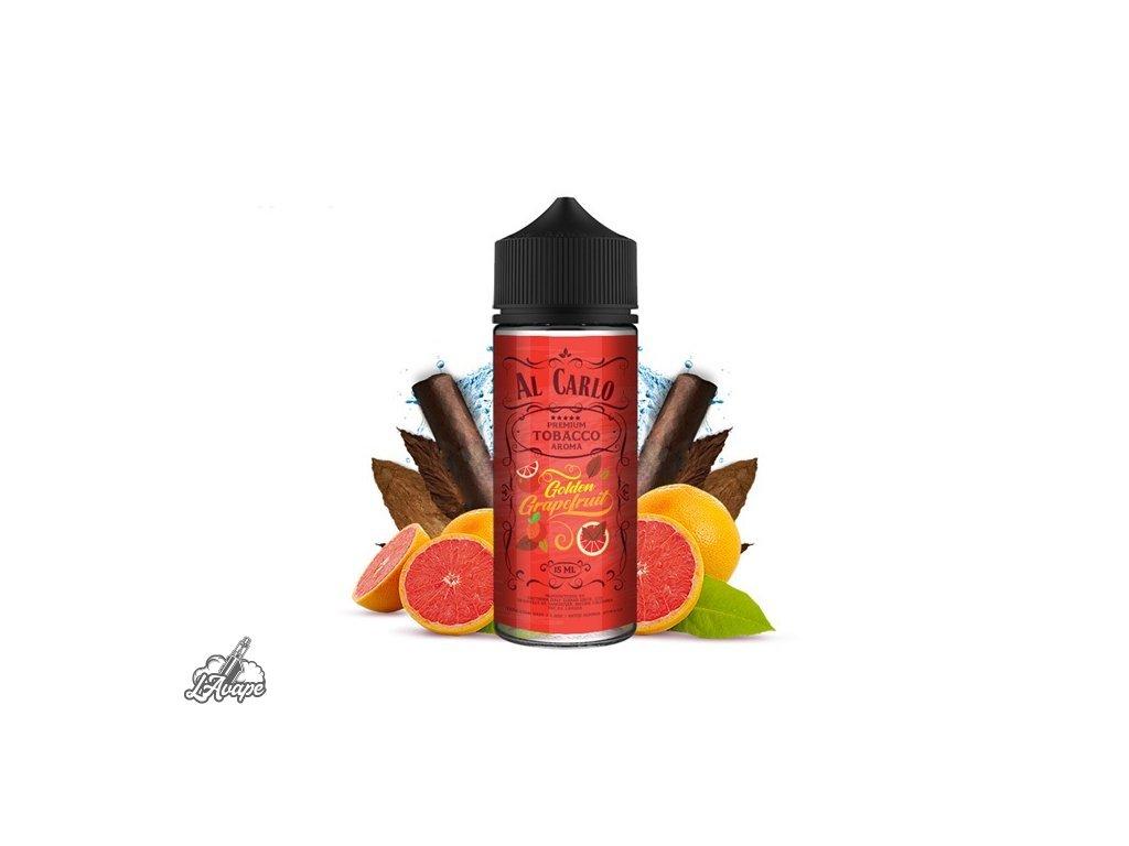 Příchuť 15 ml v 120 ml lahvičce - Al Carlo Golden Grapefruit. Sladkokyselý grapefruit, jemný tabák. lavape.cz