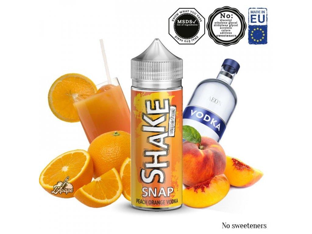 Příchuť 24ml v 120ml lahvičce - AEON SHAKE Snap! - Broskve, pomeranče, vodka - lavape.cz