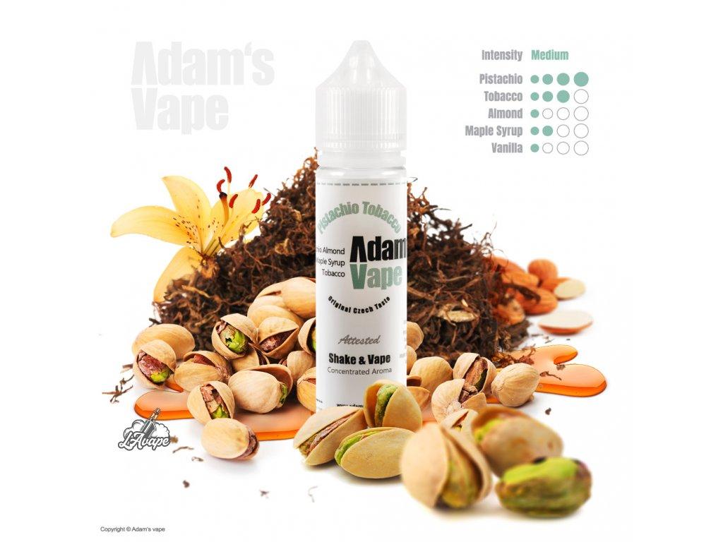Příchuť SNV 12 ml v 60ml lahvičce - Adam´s Vape Pistachio Tobacco SnV 12 ml - pistácie, mandle, javorový sirup, tabák. - lavape.cz