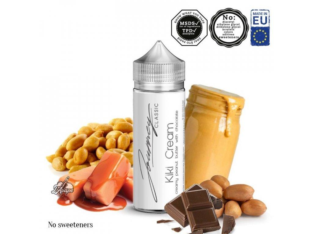 Příchuť 24ml v 120ml lahvičce - AEON Journey Classic Kiki Cream. Smetana, arašídy, čokoládový krém. lavape.cz