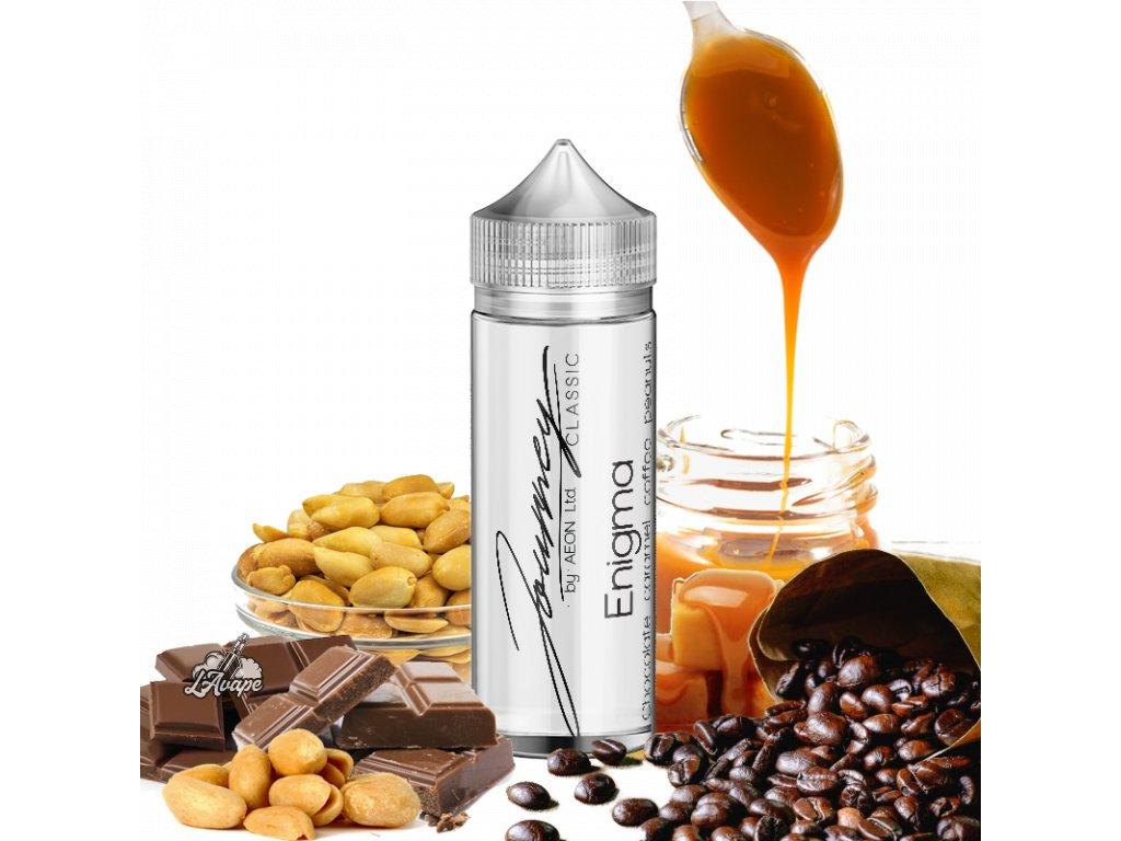 Příchuť 24ml v 120ml lahvičce - AEON Journey Classic Enigma. Čokoláda, arašídy, kafe, karamel. lavape.czl