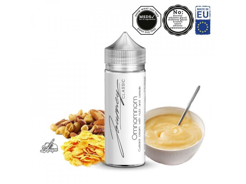Příchuť 24ml v 120ml lahvičce - AEON Journey Classic Omnomnom. Bohatý vanilkový krémový pudink. lavape.cz