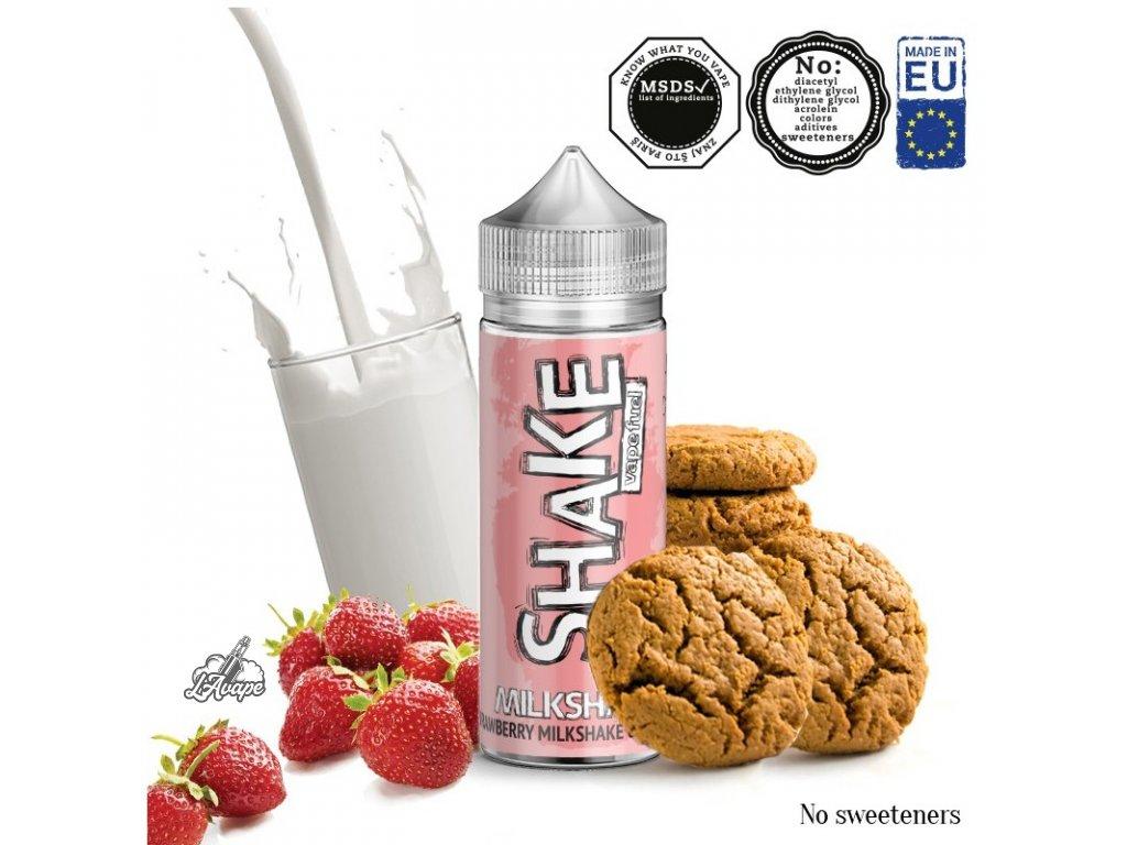 Příchuť 24ml v 120ml lahvičce - AEON SHAKE Milk Shake. Jahodový milkshake se sušenkami. LAVAPE.CZ