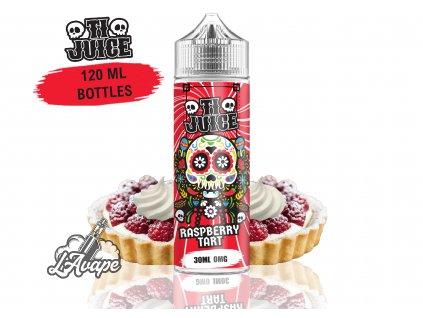 TI Juice - Raspberry Tart - SnV 30 ml v 120 ml lahvičce. Křupavé těsto, maliny, jemná sladká šlehačka. LAVAPE.CZ