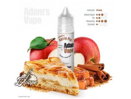 Příchuť SNV 12 ml v 60ml lahvičce - Adam´s Vape Cinnamon Apple Pie SnV 12 ml - pečená jablka, karamel, skořice. lavape.cz