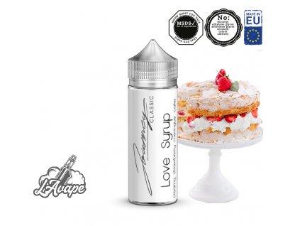 Příchuť 24ml v 120ml lahvičce - AEON Journey Classic Love Syrup - krémový dort, jahody, kiwi, šlehačka. LAVAPE.CZ