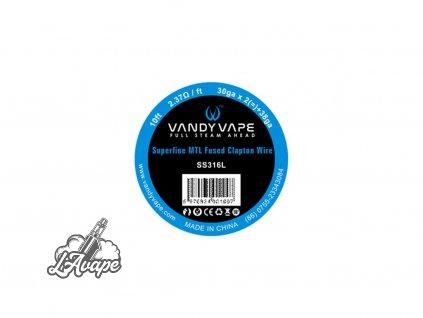 SS316L Superfine MTL Fused Clapton 3,04 m Vandy Vape odporový drát pro DIY vaping