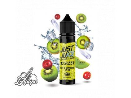 Příchuť SNV 20 ml v 60ml lahvičce - JUST JUICE – KIWI & CRANBERRY ON ICE. lavape.cz