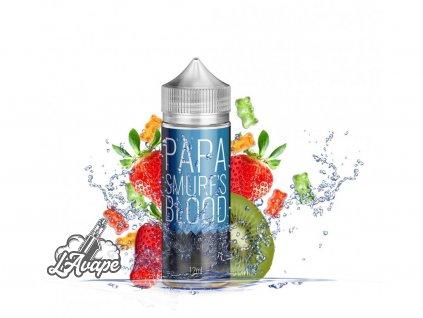 Infamous Originals Papa Smurf´s Blood - Tato příchuť se skládá z ovocných chutí jahody a nakyslého kiwi. Toto ovoce se nachází zalité uvnitř želatiny z rozpuštěných gumových medvídků. - lavape.cz