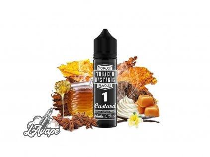 Flavormonks Tobacco Bastard No. 1 Custard - Původní Original naplněný máslovo-vanilkovým krémem. - lavape.cz