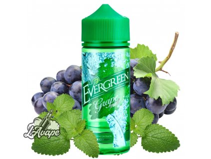 Evergreen Grape Mint SnV 30 ml aroma ve 120 ml Chubby gorila lahvičce - hrozny, máta. lavape.cz