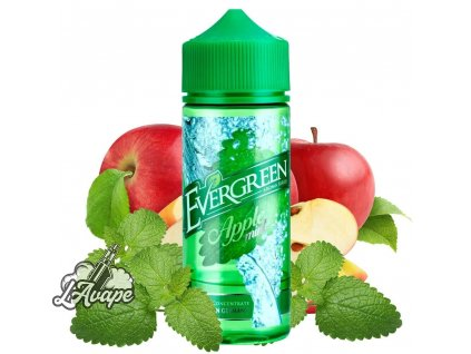 Produkt Evergreen Apple Mint SnV 30 ml aroma ve 120 ml Chubby gorila lahvičce - jablko, máta. lavape.cz