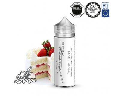 Příchuť 24ml v 120ml lahvičce - AEON Journey Classic Poison Heart. Krémový koláč, jahody, citrón. lavape.cz