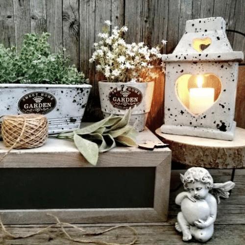 Betónové dekorácie a kvetináče