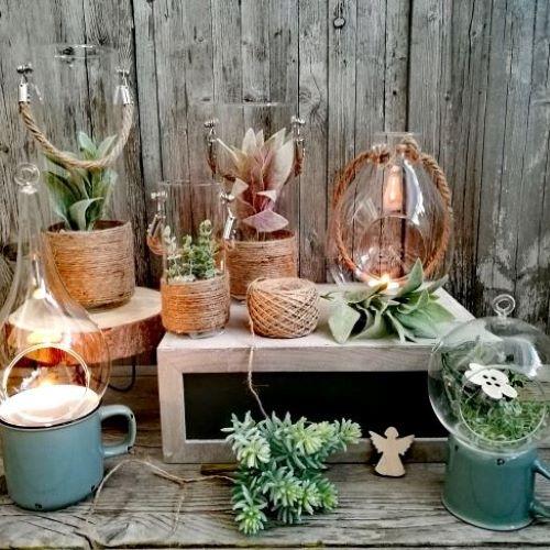 Priehľadné sklo a dekorácie