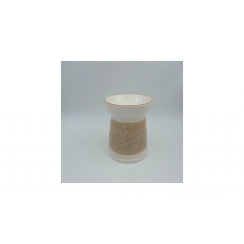 Aroma lampa keramická, farba krémová 12x12x15cm