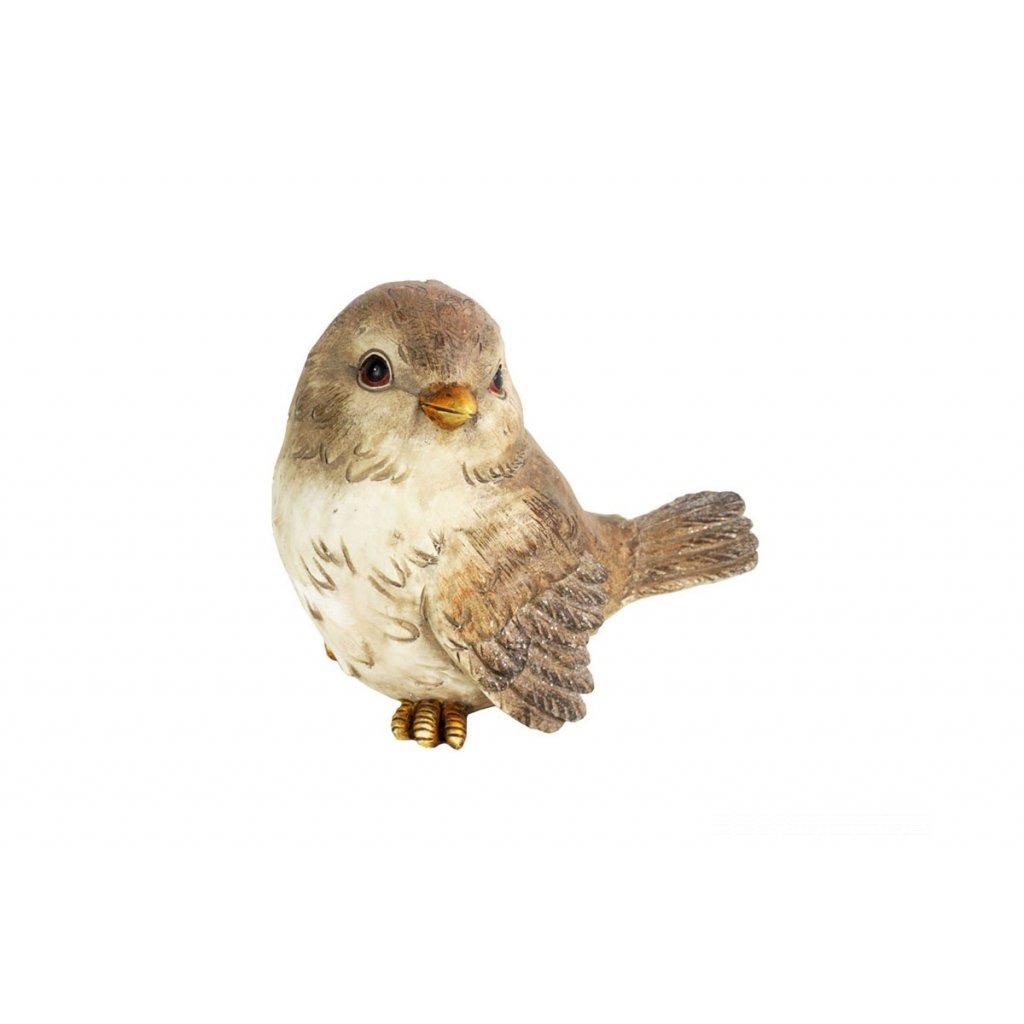Vtáčik, dekorácia z polyresinu,16x12x15,5cm