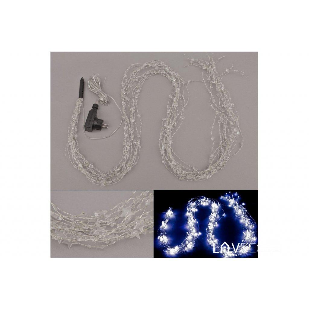 Reťaz s LED svietielkami, do zásuvky, vonkajšia IP44, farba studená biela 2m/300led diod