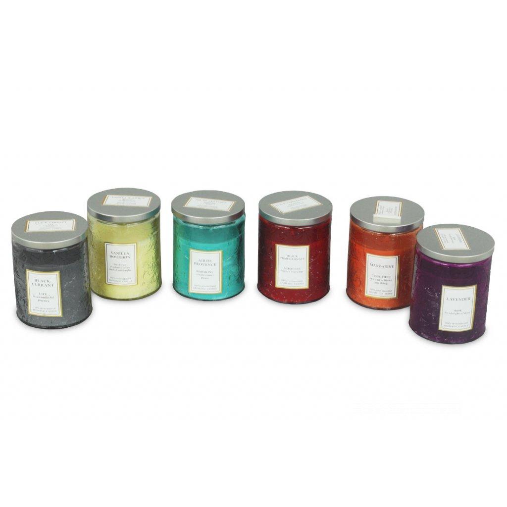Sviečka vonná v skle, 175g vosku, mix 6 vôní, cena za 1 kus  v. 9 cm pr.7 cm