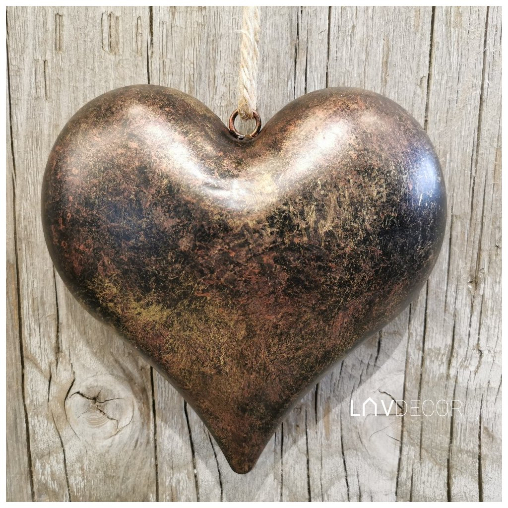 Srdiečko kovové na zavesenie 16x15,5cm