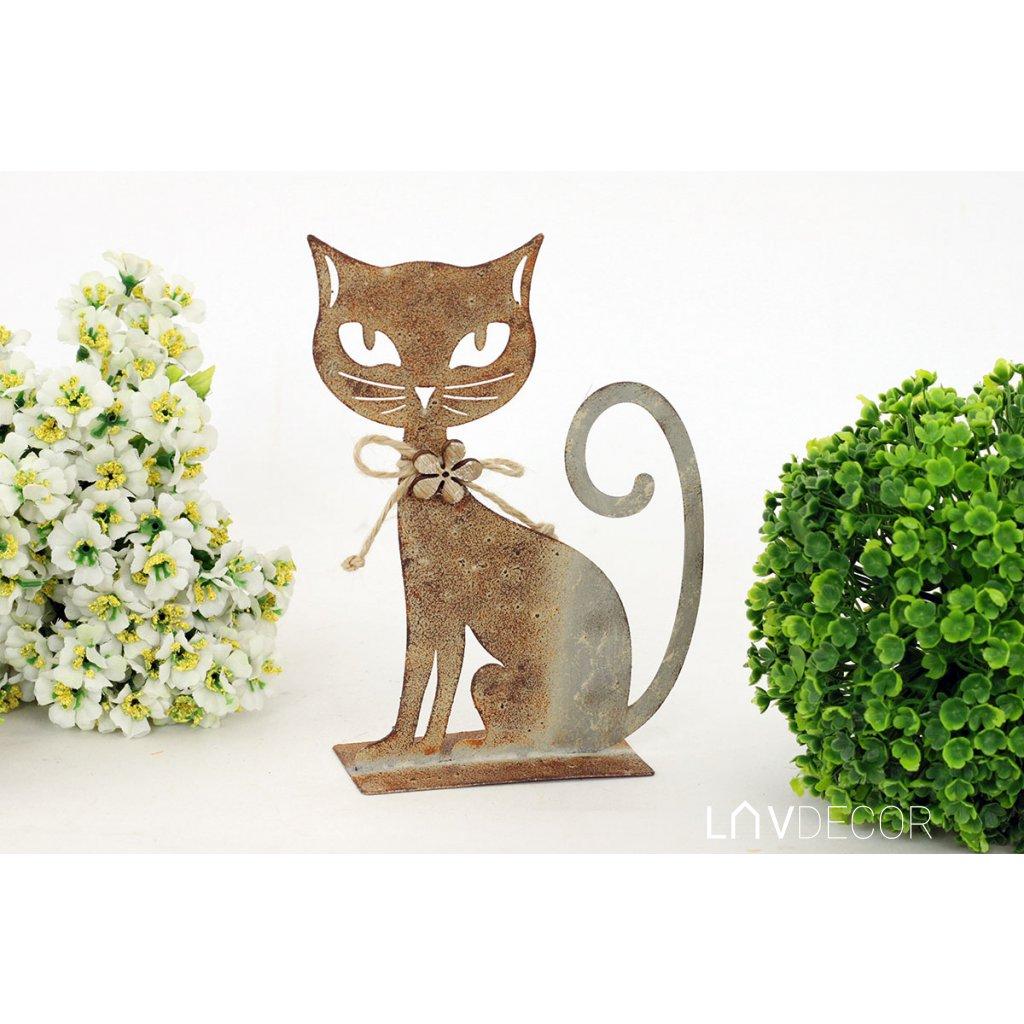 Mačka  kovová dekorácia 17x13xcm